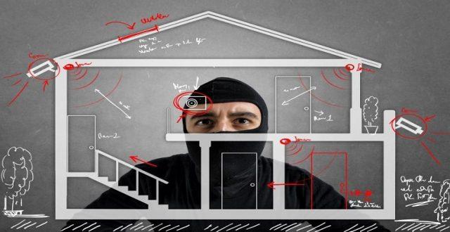 image montrant différents points d'installation de système d'alarme dans une maison