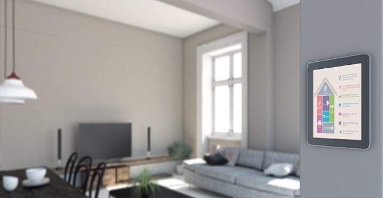 système de sécurité actif dans différentes pièces de la maison