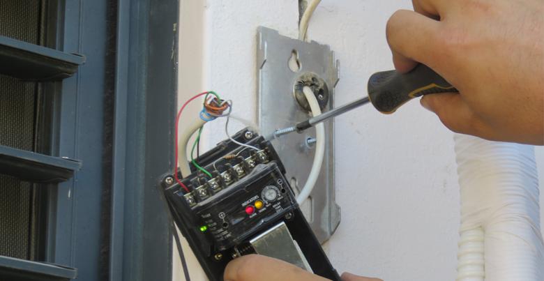 image montrant une installation alarme