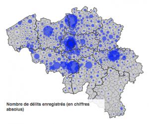 Cambriolages Belgique map